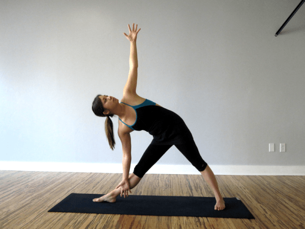 Triangle Pose, or Trikonasana