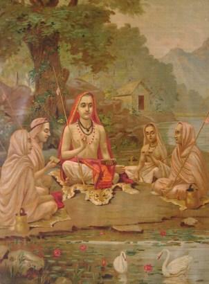 Srimad Guru Adi Shankaracharya (1904). Image by: Raja Ravi Varma (1848-1904)