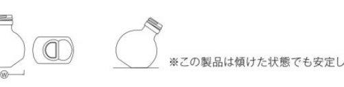 ハーバリウム用ガラス瓶ボトル円直立斜め両用型詳細画像