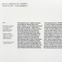 """""""Untitled"""" (Loverboy) von Felix Gonzales-Torres"""