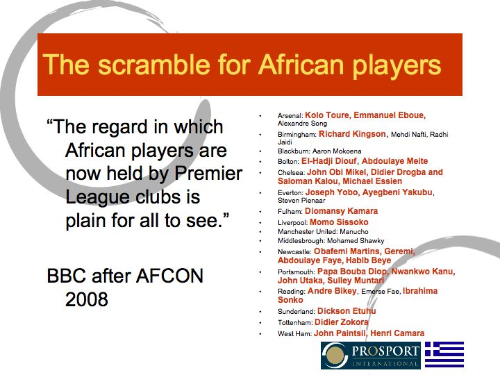 The scramble for African players