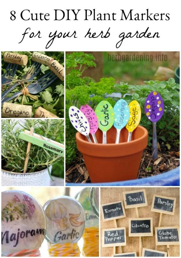 8 Cute DIY Herb Garden Plant Markers