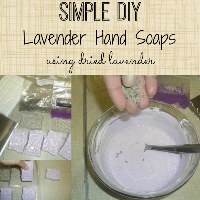 Simple DIY Lavender Hand Soaps Made With Dried Lavender
