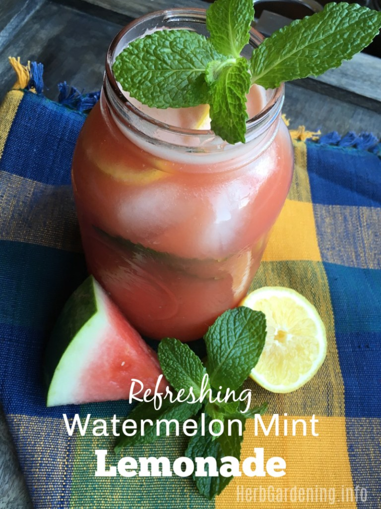 Refreshing Watermelon Mint Lemonade Recipe. #summerrecipes