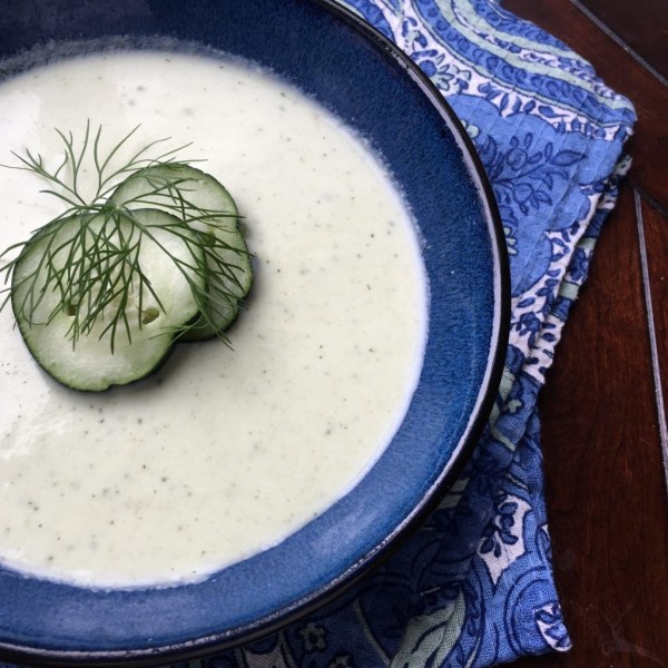 This yummy summer soup recipe uses fresh dill, cucumbers and avocado to make an easy summer meal.