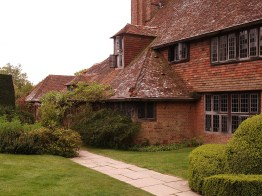 This wing of Great Dixter is used to house students attending garden design courses