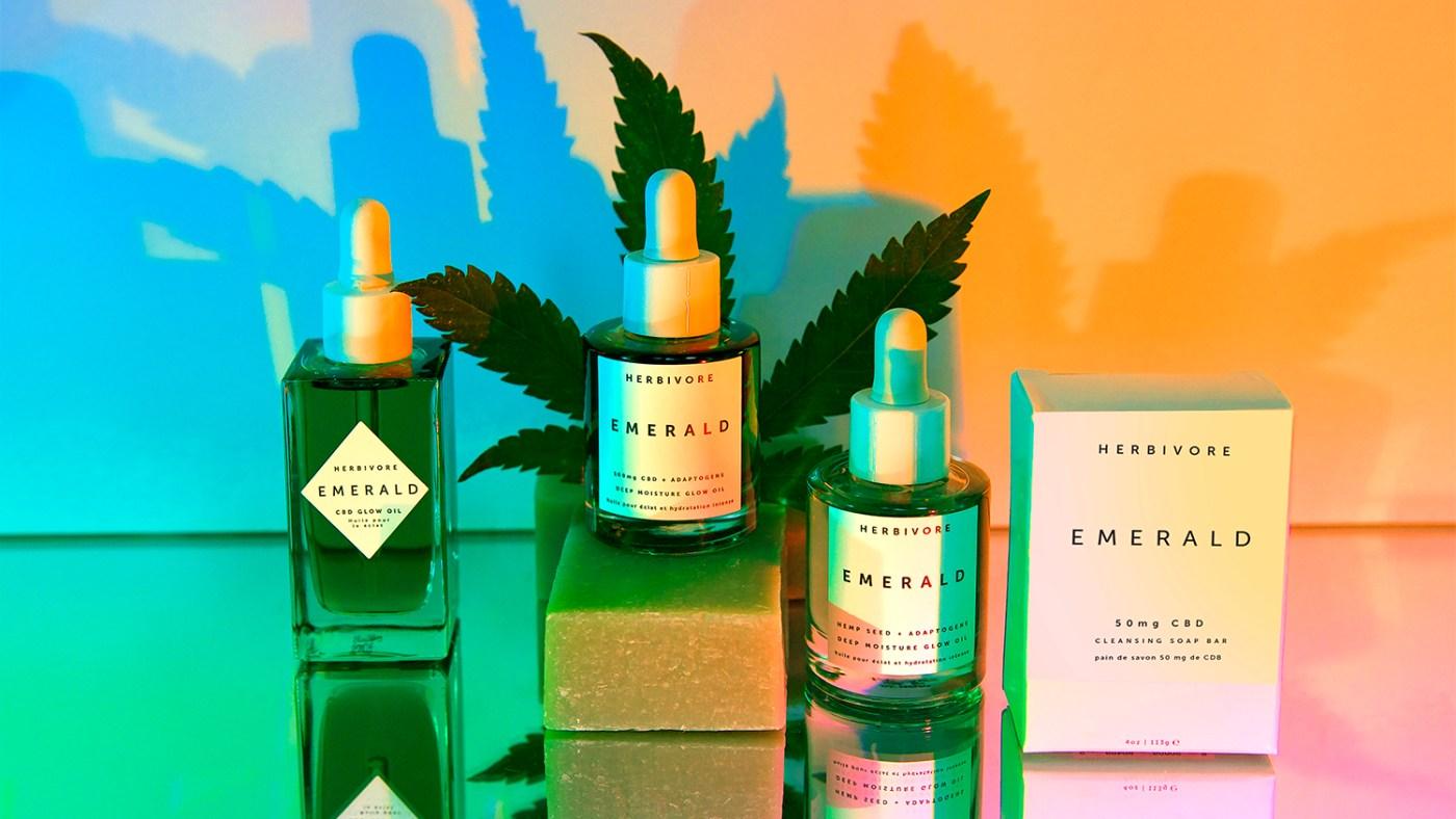 Green goddess ritual featuring CBD Skincare