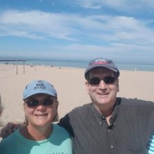 Mike and Kim, best friends in Mt Gilead (since 1984) came to visit us at Baldwin, MI July '17