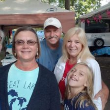 Norm & Alice (worked @ Xerox w/ Norm) friends since 1973 we visited @ Ludington State Park Aug '17