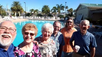 Marlene, June, Don (Kathy) & Jim @ Venice