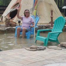 Kathy enjoying her stay