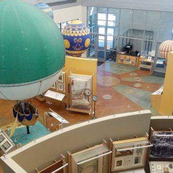 Inside view of the Balloon Museum