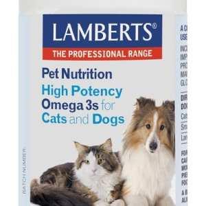Omega 3 para Gatos y Perros – Lamberts – 120 Cápsulas