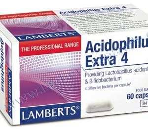 Acidophilus Extra 4 – Lamberts – 60 Cápsulas