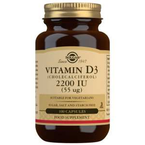 Vitamina D3 2.200 UI – Solgar – 100 cápsulas