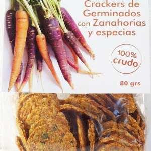 Crackers con Germinados con Zanahoria y Especias ECO 80g