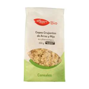 Copos Crujientes de Arroz y Mijo Bio – El Granero Integral – 350 gr