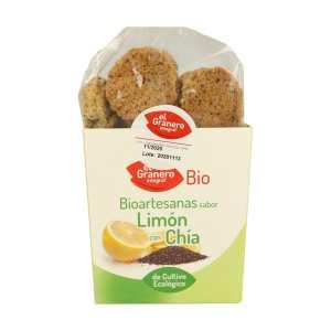 Galletas Artesanas con Limón Bio – El Granero Integral – 250 gr