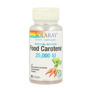 Food Carotene – Solaray – 50 perlas