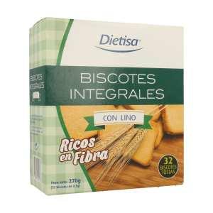 Biscote Integrales Lino – Dietisa – 270 gr