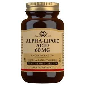 Ácido Alfa Lipoico 60 mg – Solgar – 30 cápsulas