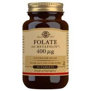 Folato (Metafolin®) 400 mcg – Solgar – 50 comprimidos