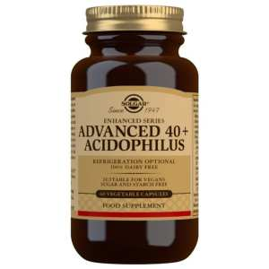 40 Plus Acidophilus Avanzado – Solgar – 60 cápsulas