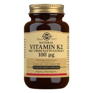 Vitamina K2 100 μg con MK-7 natural – Solgar – 50 cápsulas