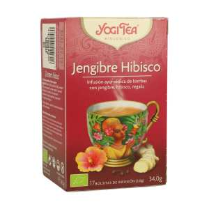 Jengibre Hibisco – Yogi Tea – 17 filtros