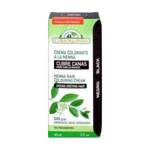 Crema Colorante Henna Negro – Corpore Sano – 60 ml