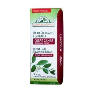 Crema Colorante Henna Caoba – Corpore Sano – 60 ml