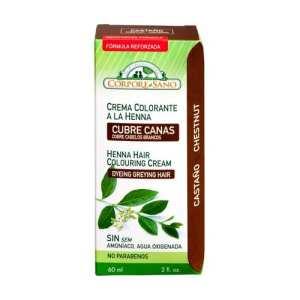 Crema Colorante Henna Castaño – Corpore Sano – 60 ml