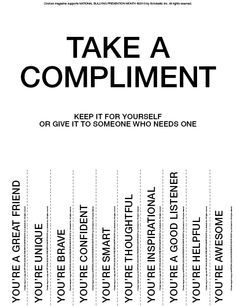 Compliments & Confidence