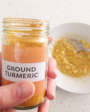 don't forget the turmeric!