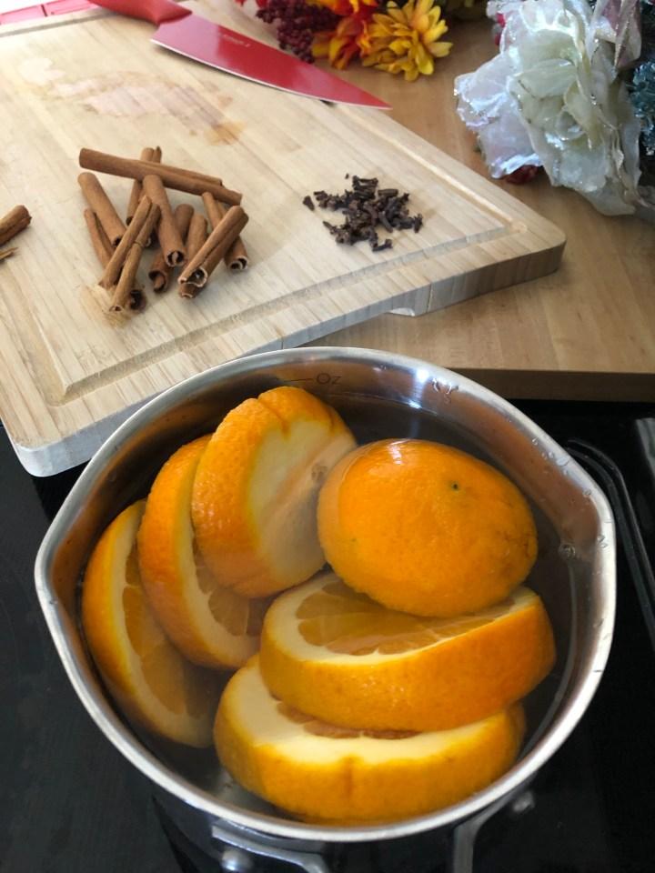 Orange Slices Added In.