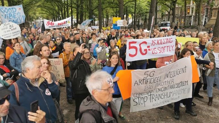 Demo tegen 5G