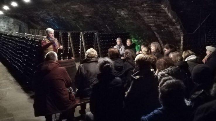 Mitarbeiter von Herbst-Zeitlos im Keller von Dupres