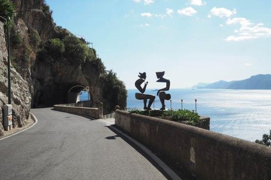 Road in Praiano.