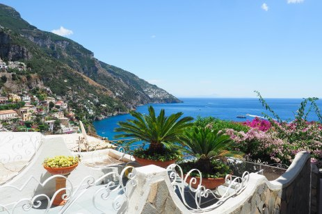 Positano. Making my way down from the top.