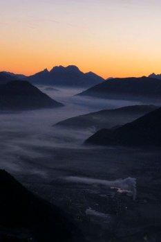 Sonnenaufgang über dem Ennstal