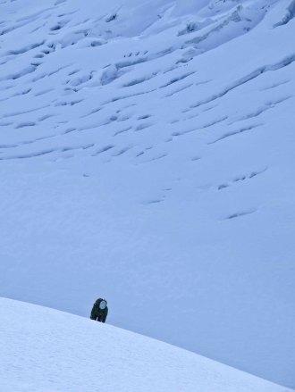 Peter hoch über dem Gletscher