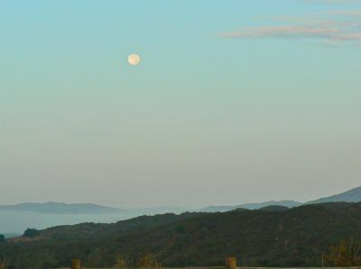 Moon setting over the VRP