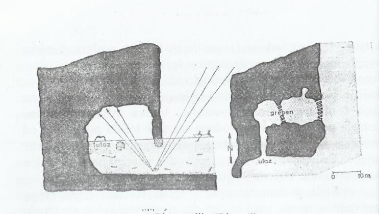 Adorjanova skica Modre špilje na Biševu