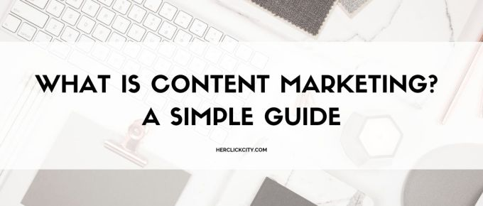 blog post header for what is content marketing