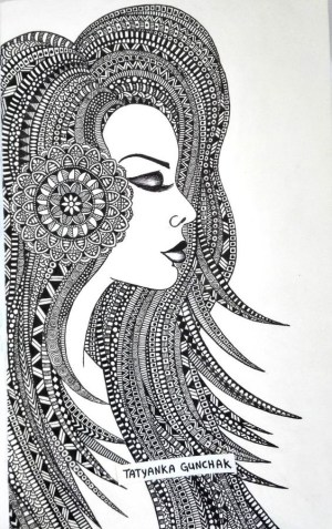 mandala drawing simple drawings designs draw zentangle doodle doodles patterns lady detailed deviantart sketches painting zentangles mandalas hobbylesson pen tattoo