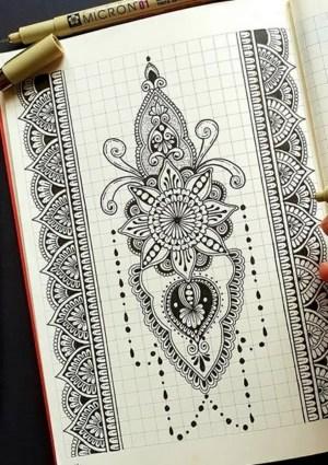 mandala draw drawing simple designs pen hercottage