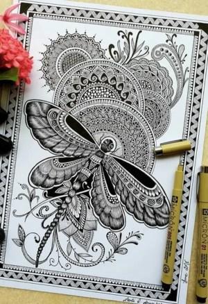 mandala draw drawing simple designs hercottage
