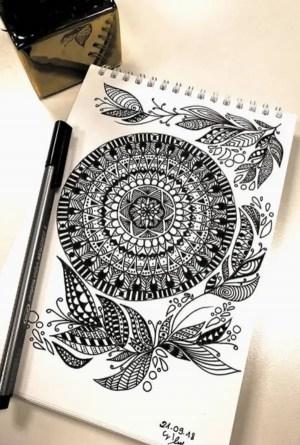 mandala draw drawing designs simple hercottage