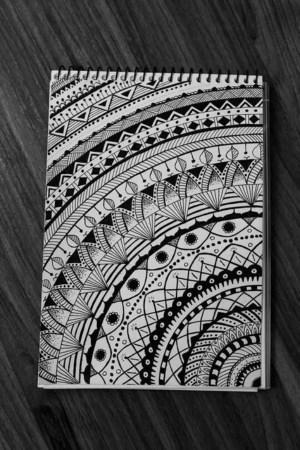 mandala draw drawing designs simple zentangle easy drawings mandalas patterns sketch hercottage things doodle bored corner pencil zentangles beginners sketches