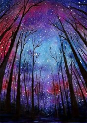 easy painting beginners canvas sky try starry paintings simple aquarelle acrylic peinture tattoo watercolor dessin ciel encre chine galaxy paysage